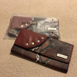 New Miche Red Snake Wallet